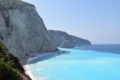 壮观的波尔图Katsiki海滩 免版税图库摄影