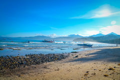 壮观的海滩在菲律宾 库存图片