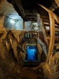 壮观的盐矿在图尔达县,罗马尼亚 免版税图库摄影