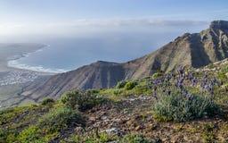 壮观的看法,兰萨罗特岛,西班牙 库存照片