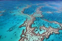 壮观的空中礁石场面 免版税图库摄影