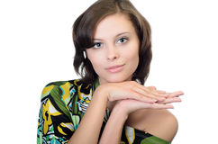 壮观的纵向妇女年轻人 免版税图库摄影
