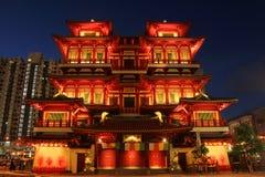 壮观的菩萨牙遗物寺庙 免版税图库摄影