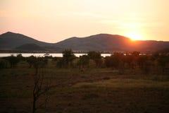 壮观的非洲日出 免版税库存照片