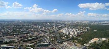 壮观的鸟瞰图(340 m)莫斯科,俄罗斯 免版税库存照片