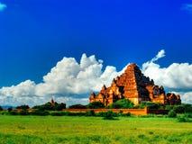 壮观的Dhammayangyi寺庙全景,异教徒, Bagan缅甸 免版税库存图片