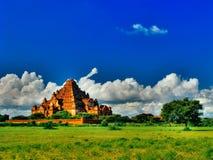 壮观的Dhammayangyi寺庙全景,异教徒, Bagan缅甸 库存图片