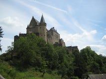 壮观的Vianden城堡 图库摄影