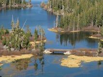 声势浩大加利福尼亚的湖 图库摄影