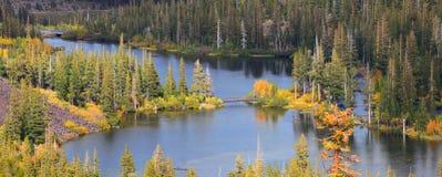 声势浩大的湖 库存图片