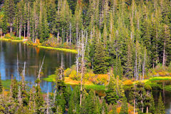 声势浩大的湖 库存照片