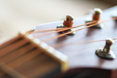 声学吉他调整的关键字 免版税库存照片