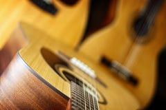 声学吉他三 库存图片