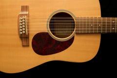 12声学吉他字符串 免版税库存照片
