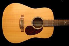 12声学吉他字符串 免版税库存图片
