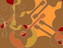 声学吉他样式 库存照片