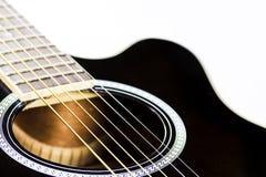 声学吉他特写镜头 库存图片