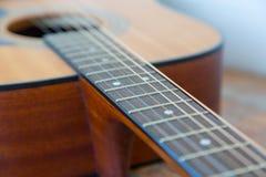 声学吉他特写镜头 图库摄影