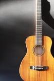 声学吉他背景和拷贝空间 图库摄影