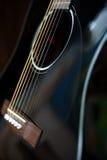 声学吉他背景 免版税库存照片