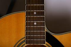 声学吉他细节 库存图片