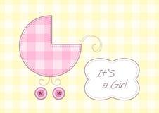 声明到达女婴 免版税库存图片