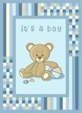 声明婴孩熊看板卡女用连杉衬裤 库存照片