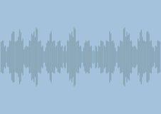 声波收音机|音乐调平器设计声音 |数字技术信号波形 免版税库存照片