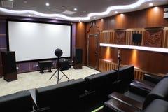 声波测距在录影屋子里 免版税库存图片