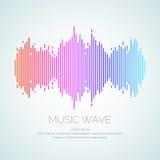 声波的海报从调平器的 向量例证