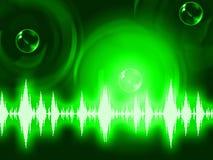 声波背景展示发光的背景或调平器墙壁 库存图片