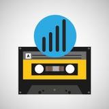 声波音乐磁带磁带 免版税库存照片