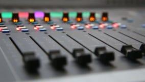 声测设备 测量的声音强度控制台 特写镜头 股票录像