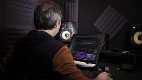 声音在演播室运作 股票录像