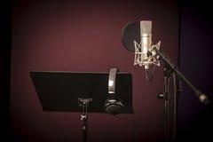 声音录音室设定 免版税库存照片