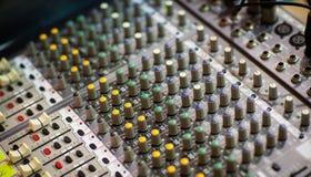声音的记录和再生产的调平器设备 库存照片