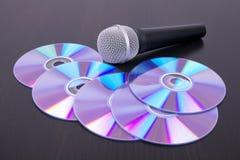 声音CD的光盘话筒的表 图库摄影