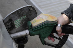 壳加油站 免版税库存照片
