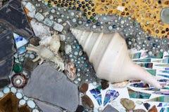 壳和石头纹理 库存照片