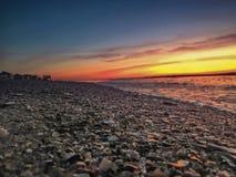 壳和Rocha海滩的 免版税库存图片