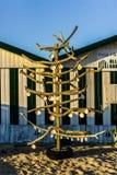 壳圣诞树-埃斯皮纽-葡萄牙 图库摄影
