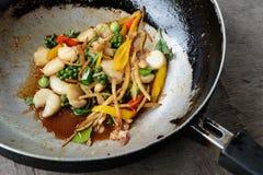 壳油煎的蛤蜊 库存图片