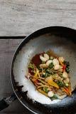壳油煎的蛤蜊 免版税库存图片