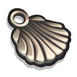 以贝壳的形式金属垂饰 风土化 向量例证