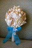从贝壳的新娘bouque 免版税库存图片