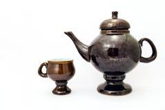 水壶和杯子 库存图片