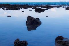 处于低潮中美丽的安达曼海,亚洲,泰国 图库摄影