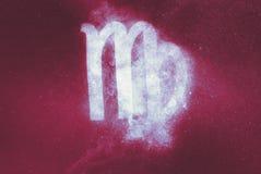 处女座黄道带标志 抽象背景 免版税图库摄影