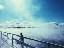 冻湖 图库摄影