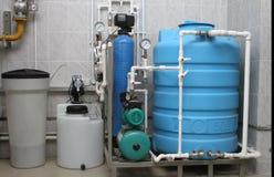 处理为锅炉房子的化学制品的设备 免版税库存图片